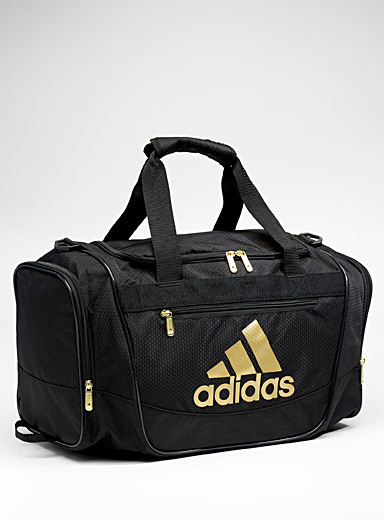 Defender gold-accent duffle bag