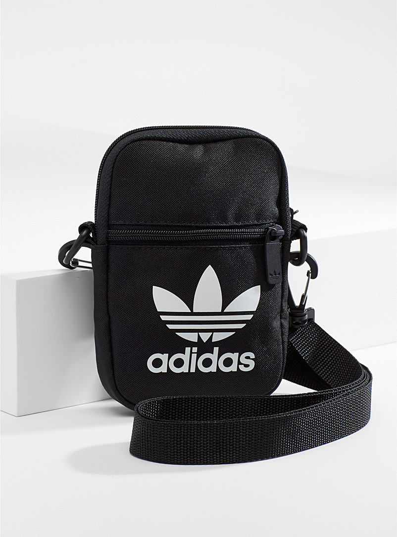 Adidas Black Mini shoulder bag for men