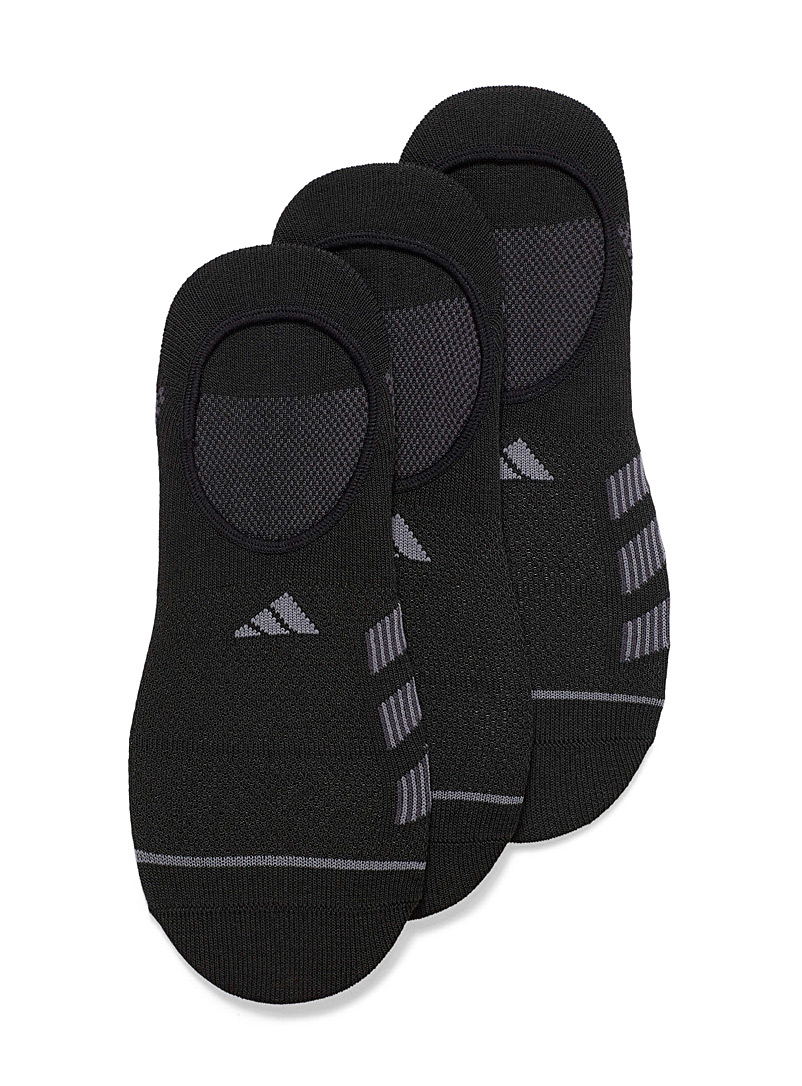 Adidas Originals Black Aerodynamic ped socks  3-pack for men