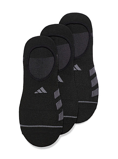 Adidas Black Aerodynamic ped socks  3-pack for men