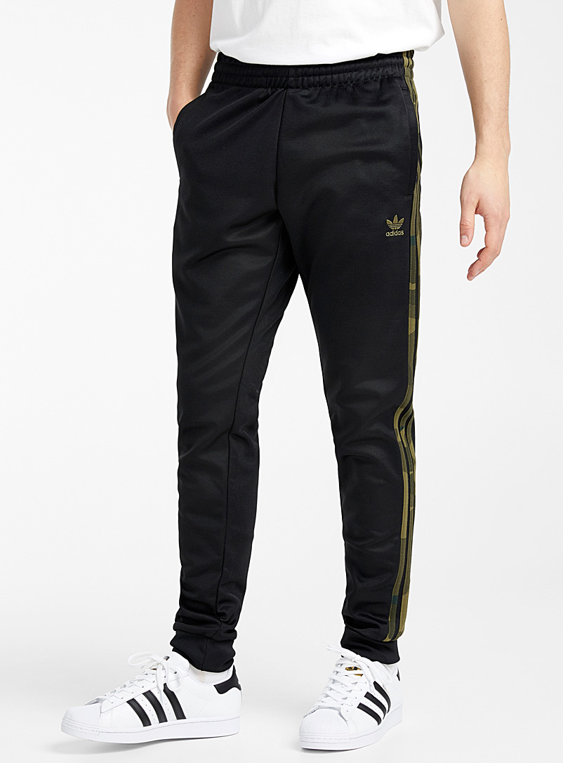 Adidas Originals Black Camo band track pant for men