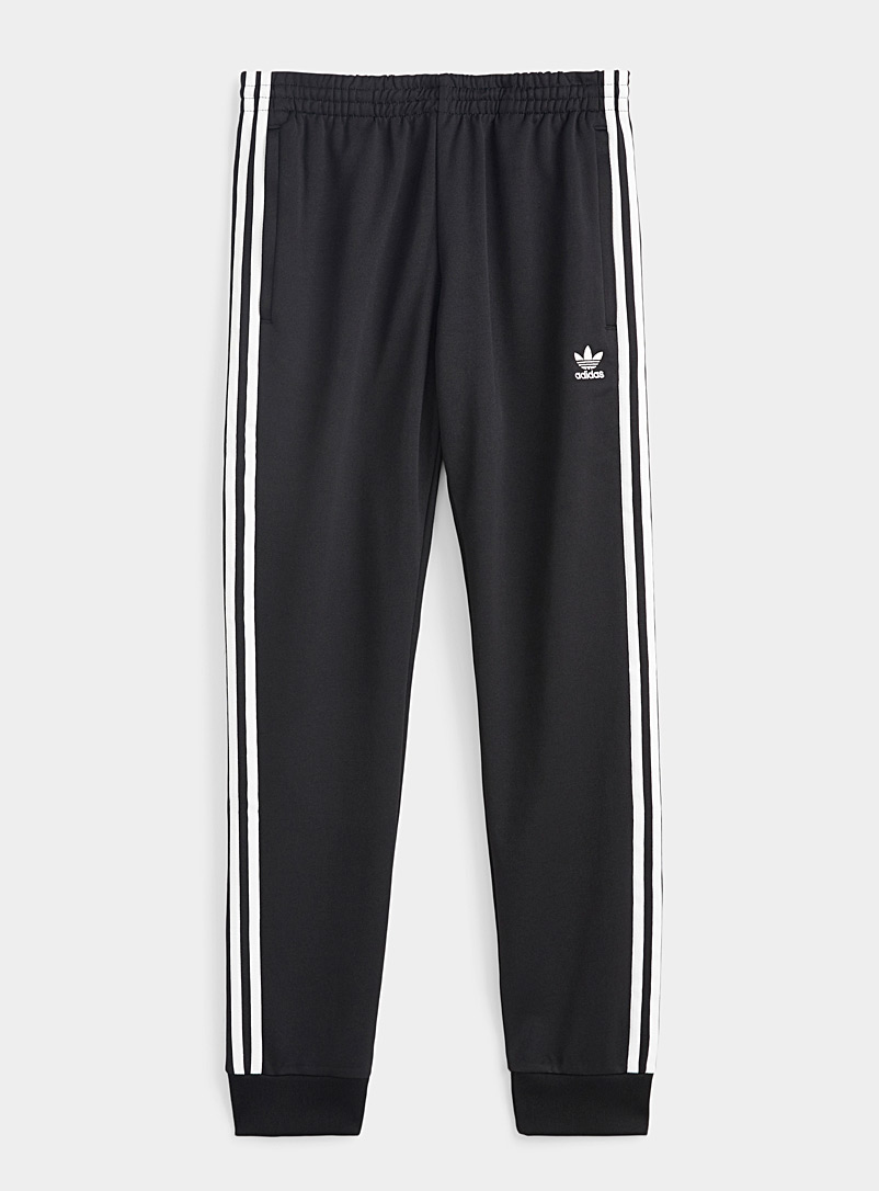 Adidas Originals Black and White Classic track pant for men