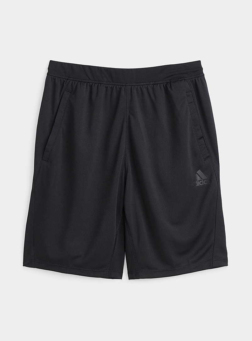 Adidas Black Recycled fiber band shorts for men