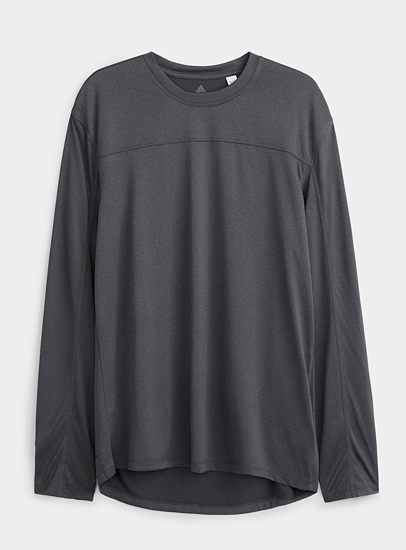 Adidas Black Urban grey recycled fiber T-shirt for men