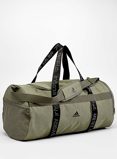 Adidas Khaki Multilingual duffle bag for men