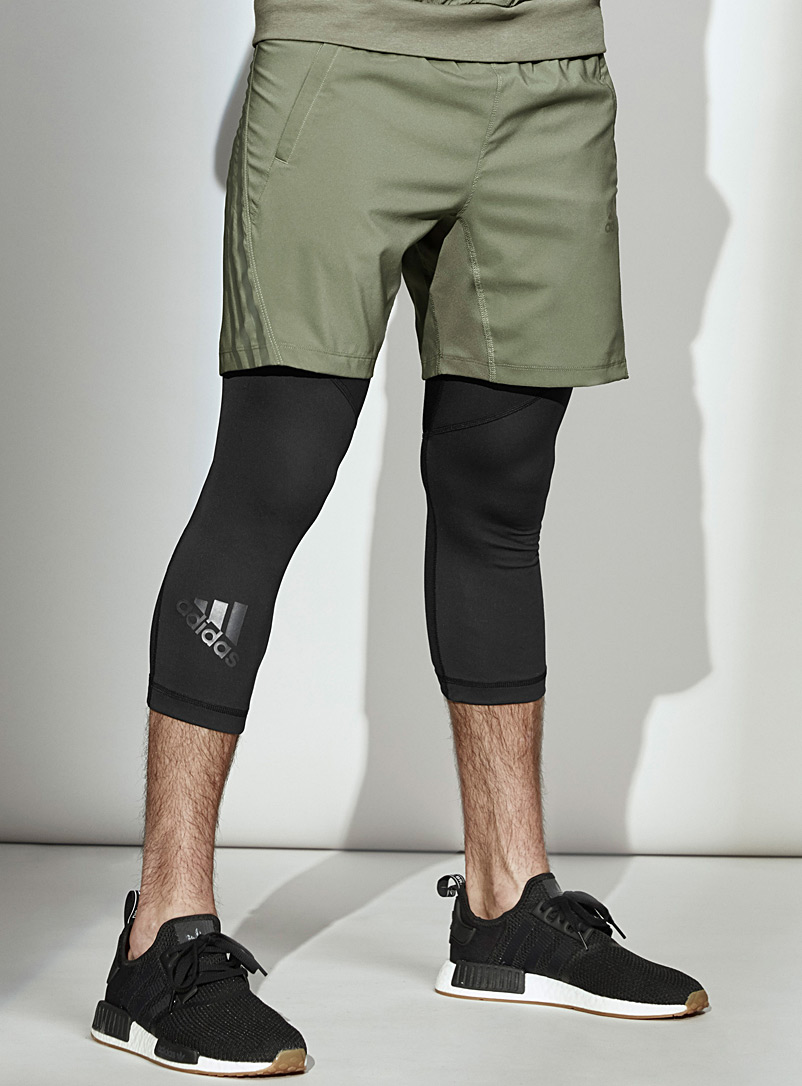Adidas Khaki Aeroready mixed media short for men