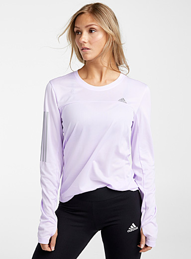 Adidas Lilacs Reflective trio tee for women