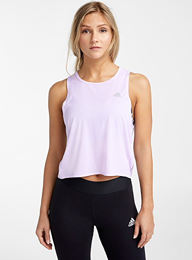 Adidas: Le tank top Own The Run Lilas pour femme