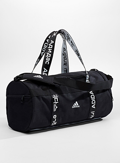 Multilingual logo duffle bag
