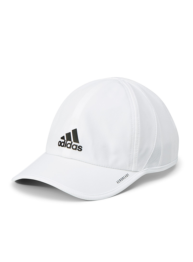 Adidas White Lightweight coated-logo cap for men