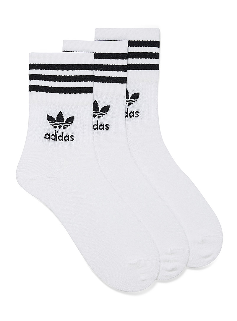 Three-stripe clover socks  3-pack