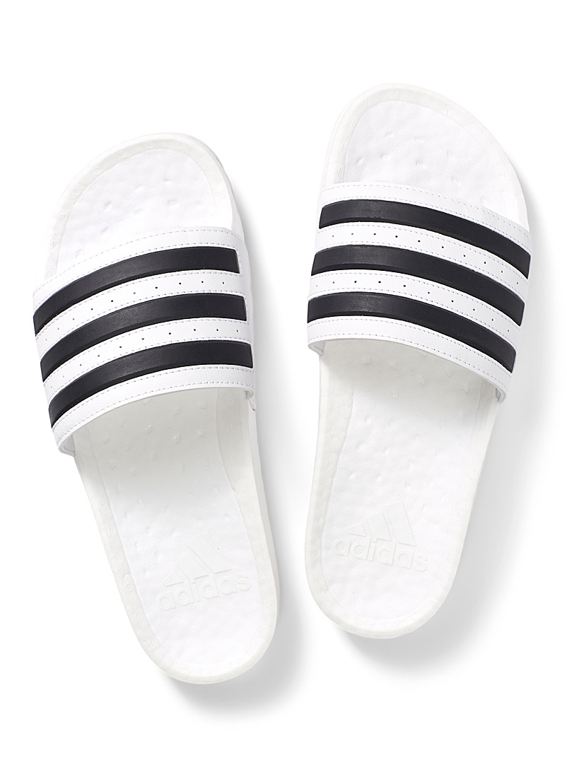 Adidas White Adilette Boost slides Men for men
