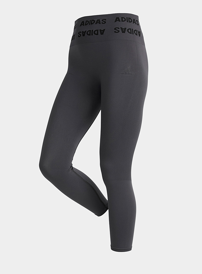 Adidas Charcoal Seamless high-rise legging for women