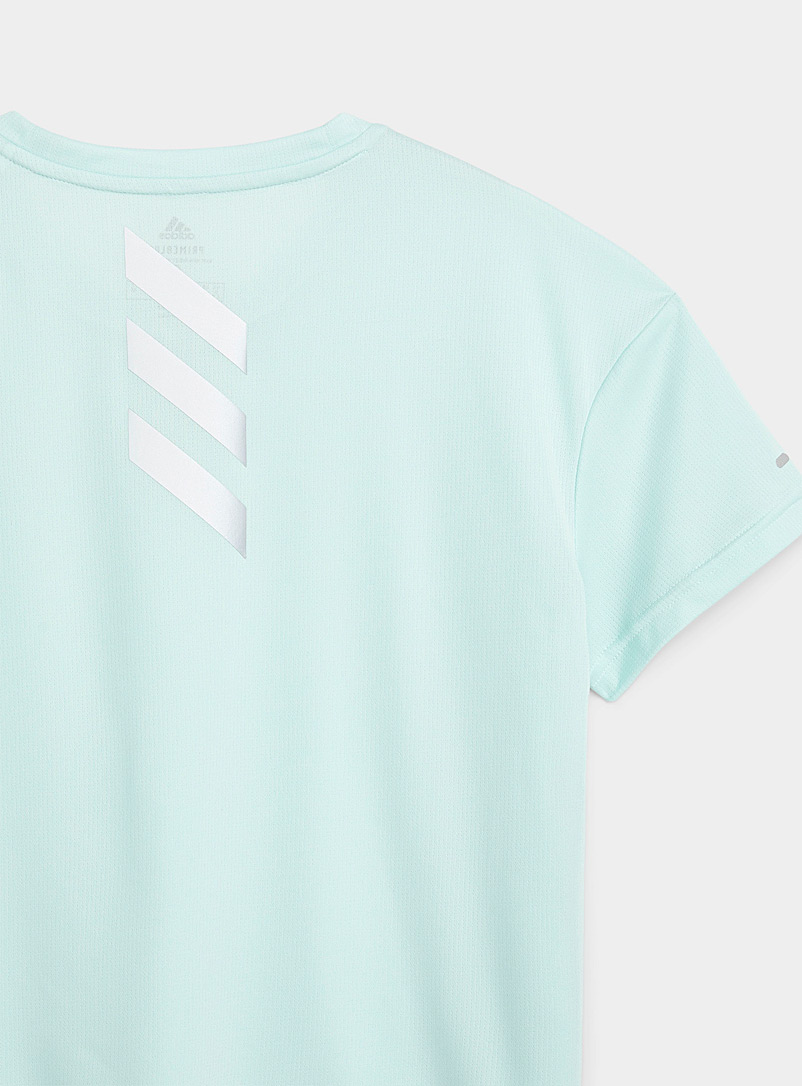 Adidas Teal Fast Primeblue boxy cropped blue T-shirt for women