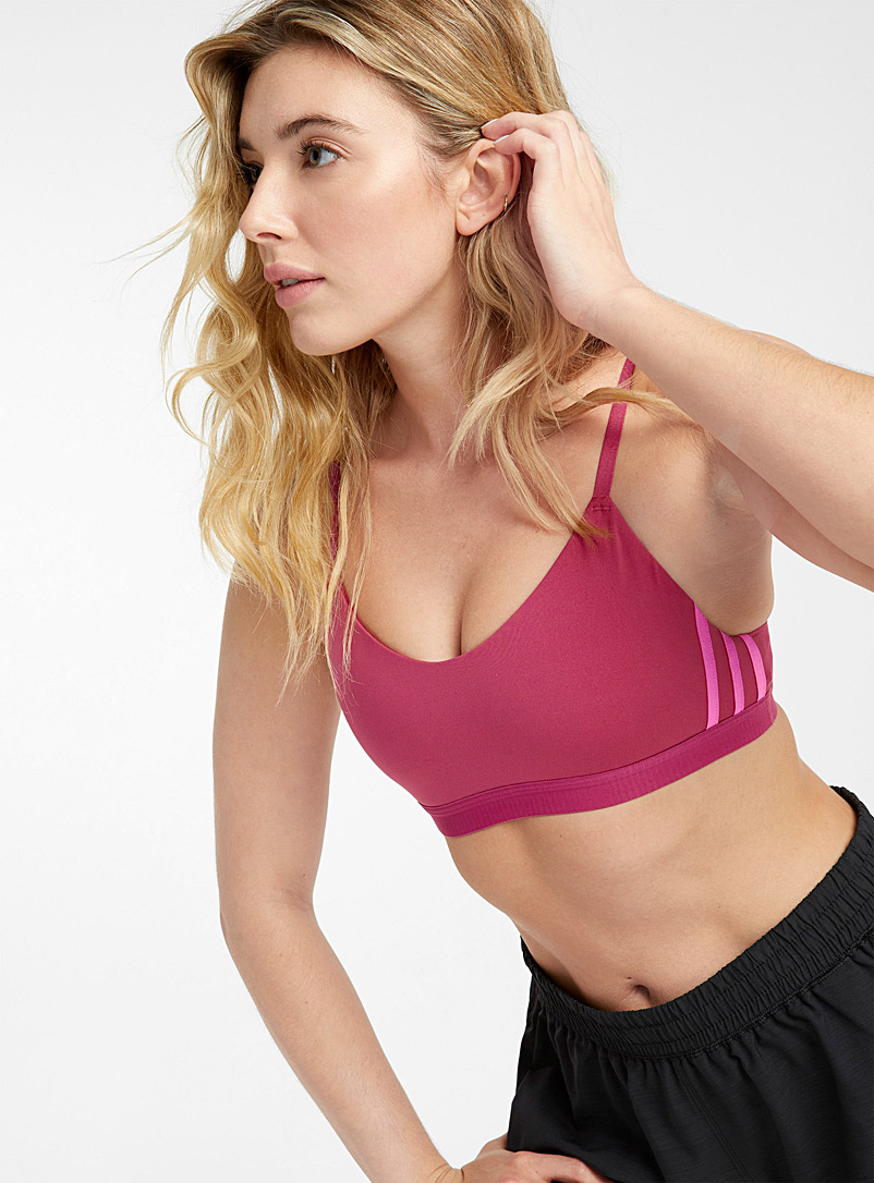 Adidas Cherry Red All Me light-support pink bra for women