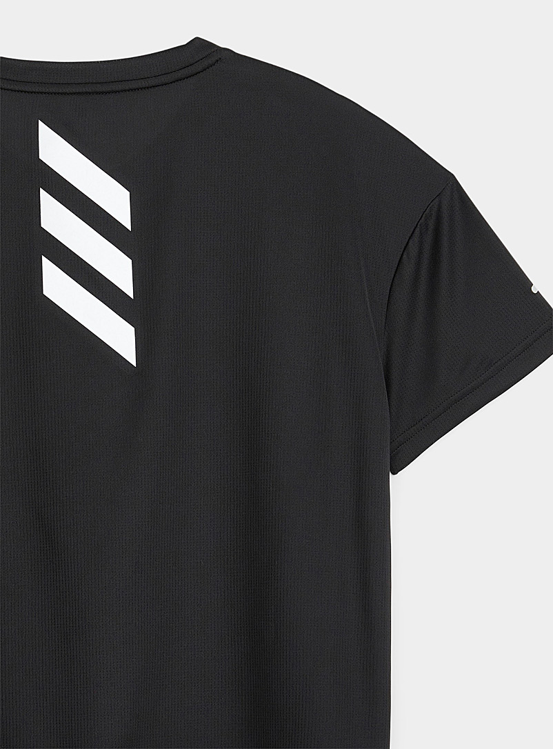 Adidas Black Fast Primeblue boxy cropped T-shirt for women