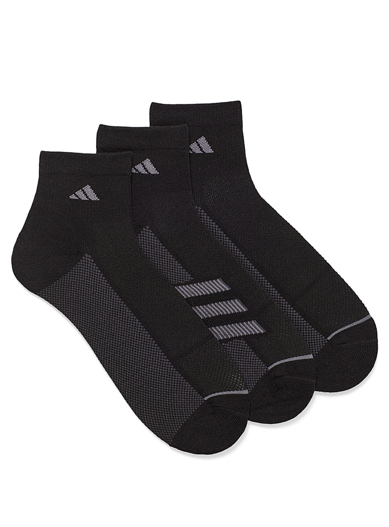 Adidas Black Superlite running socks Set of 3 for men