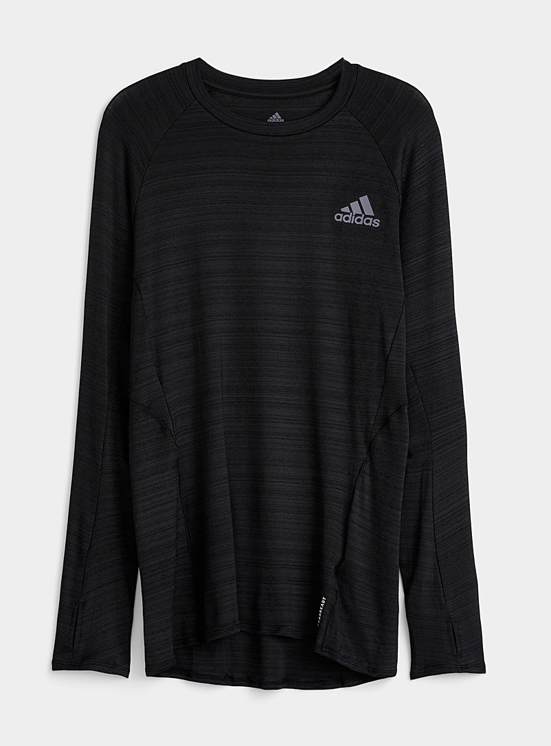 Adidas Black Long-sleeve active jersey tee for men