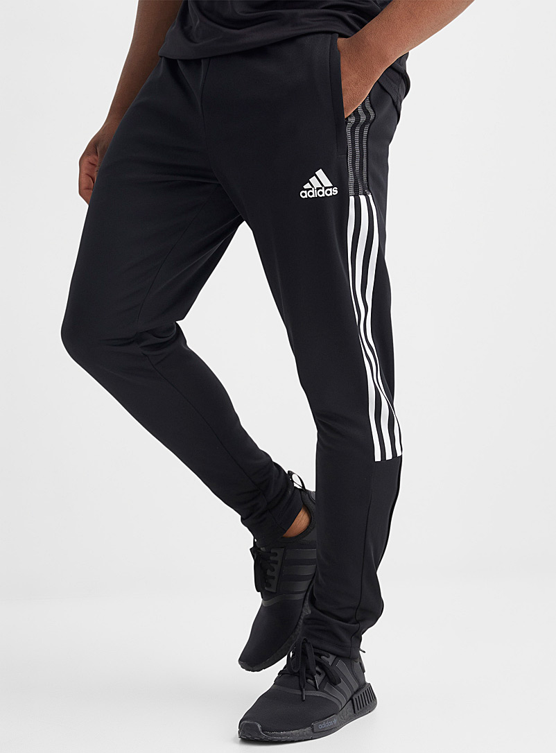Adidas Black Tiro mesh-accent black piqué pant for men