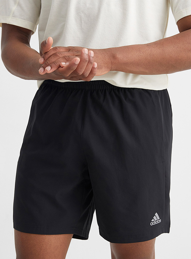 Adidas Black Run It breathable black running short for men