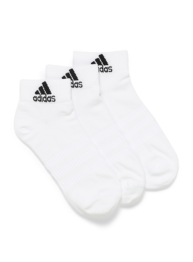 Adidas White Logo ankle sock Set of 3 for women
