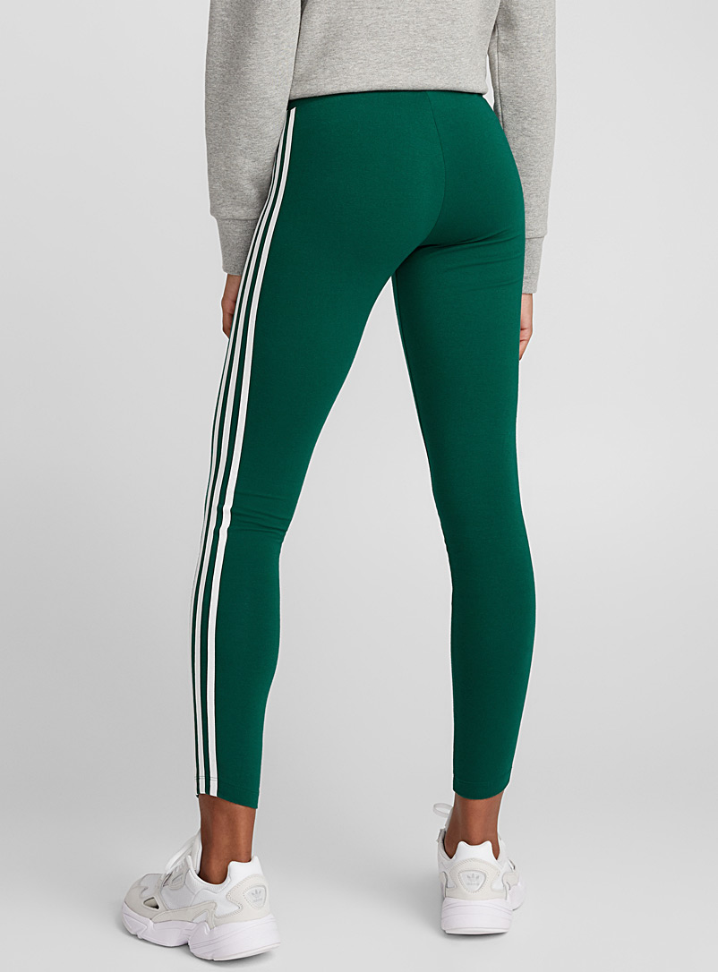 Three stripe legging - Leggings - Bottle Green
