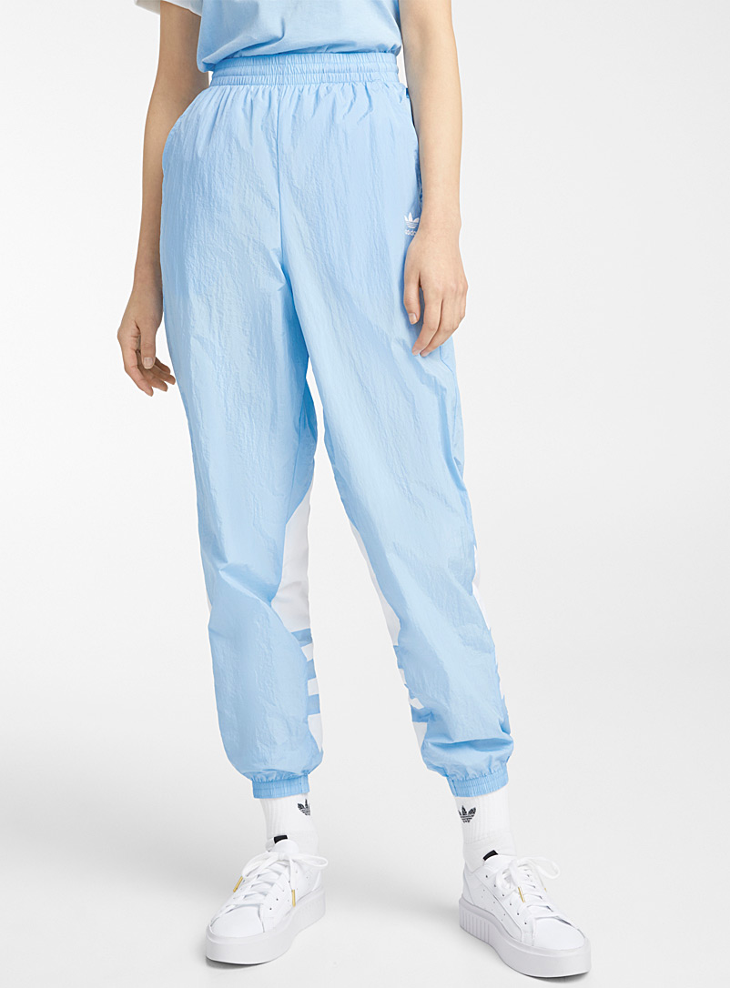 Adidas Originals Baby Blue Powder blue nylon joggers for women