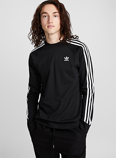 Three-stripe long-sleeve T-shirt