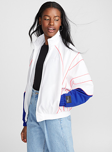 Athletic retro bomber jacket