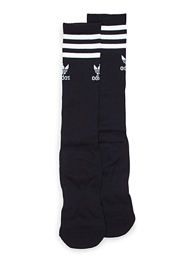 Black athletic knee socks