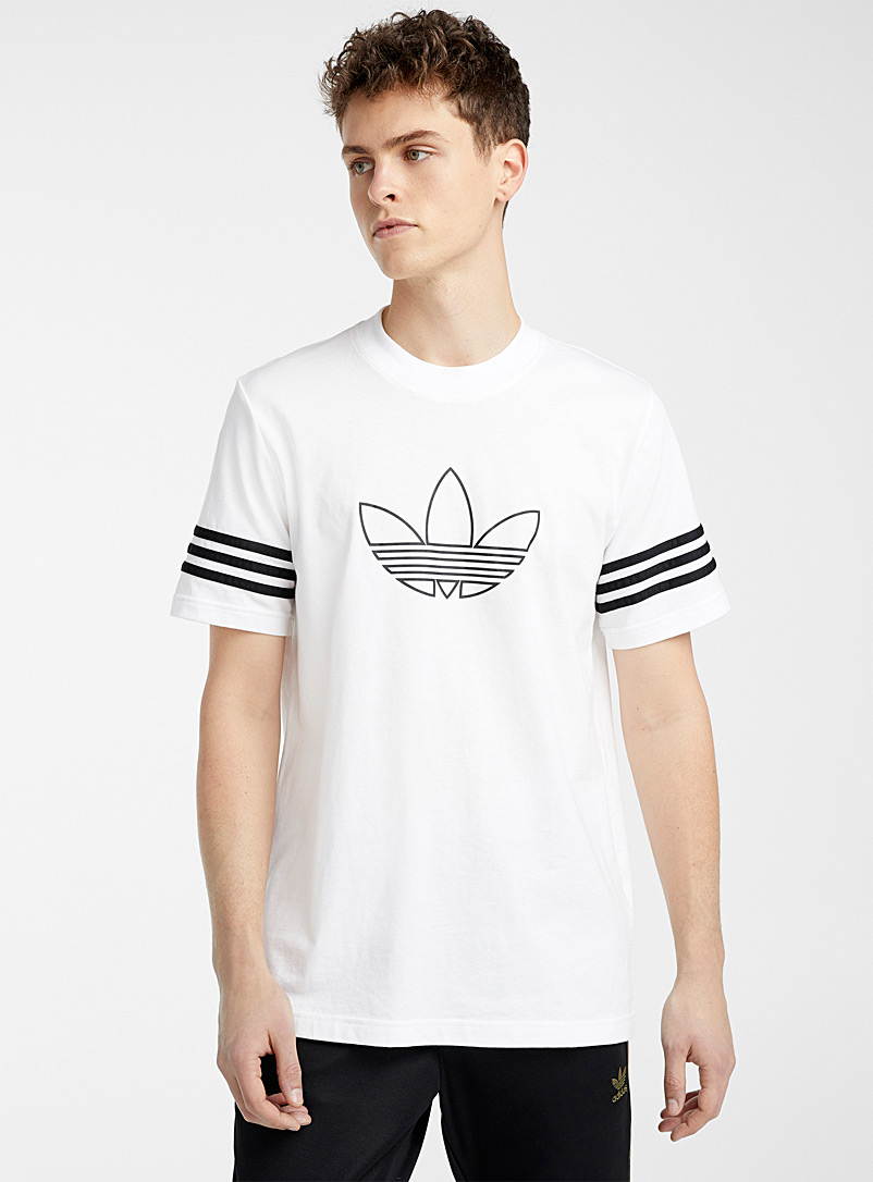 Adidas Originals White Trefoil logo T-shirt for men