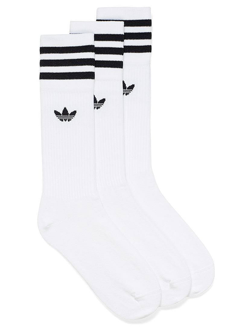 Adidas Originals White Legendary sports socks Set of 3 for women