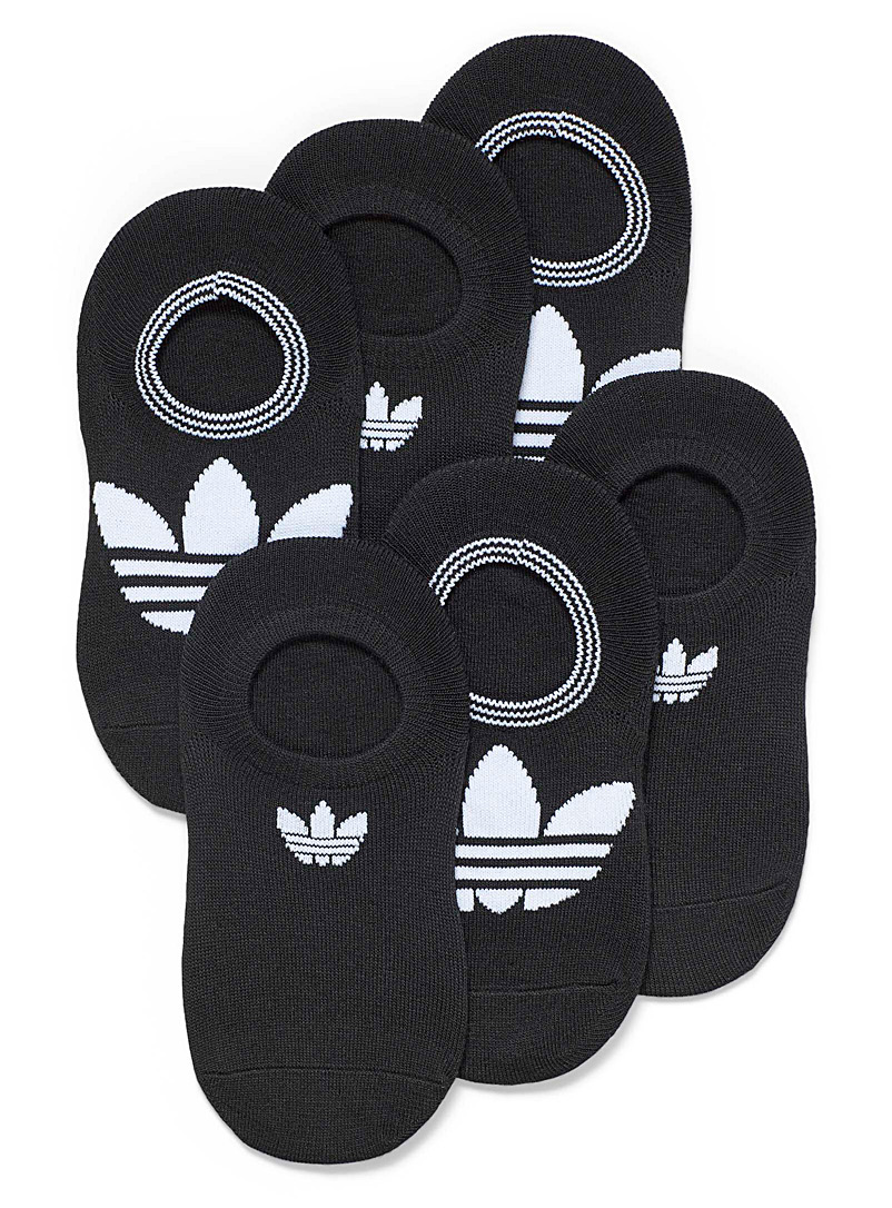 Adidas Originals Black Trefoil Superlite Super-No-Show black foot liners  Set of 6 for women