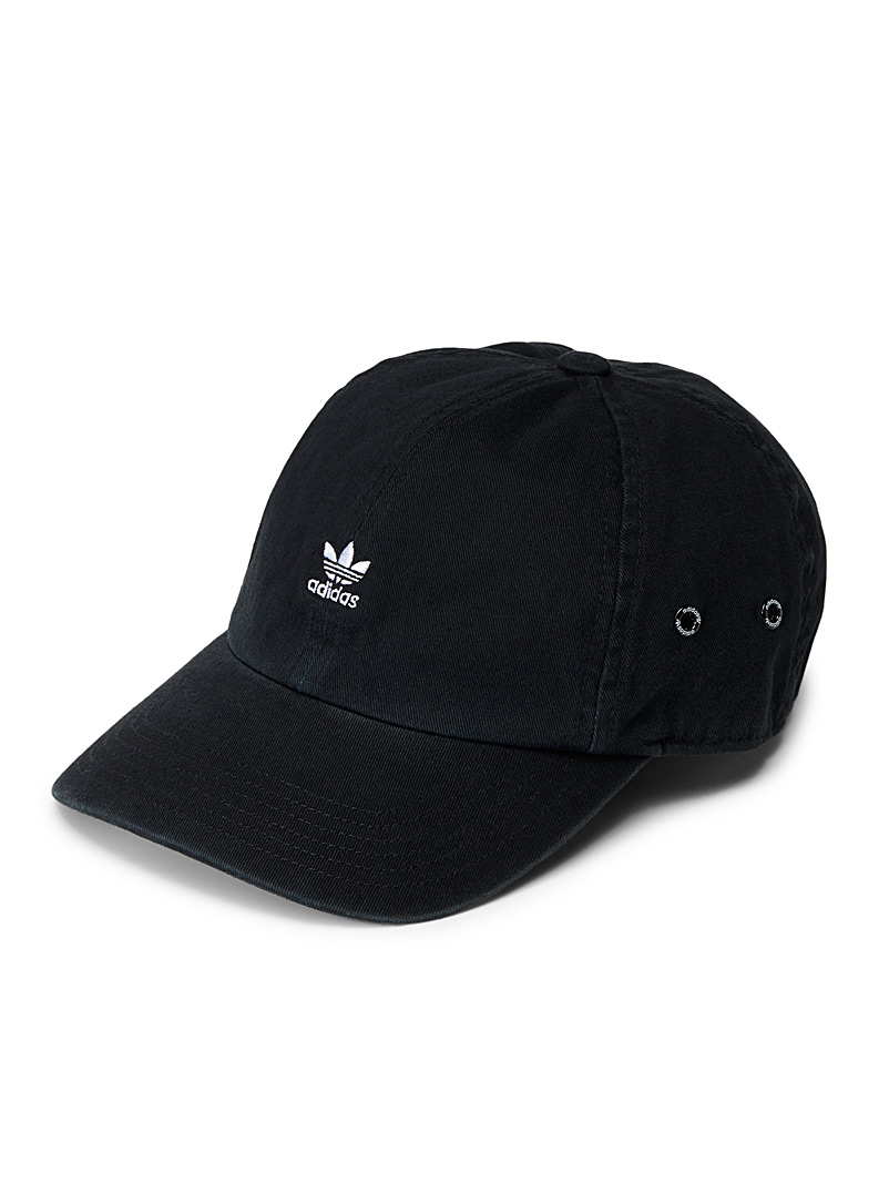 Adidas Originals Black Embroidered logo baseball cap for women