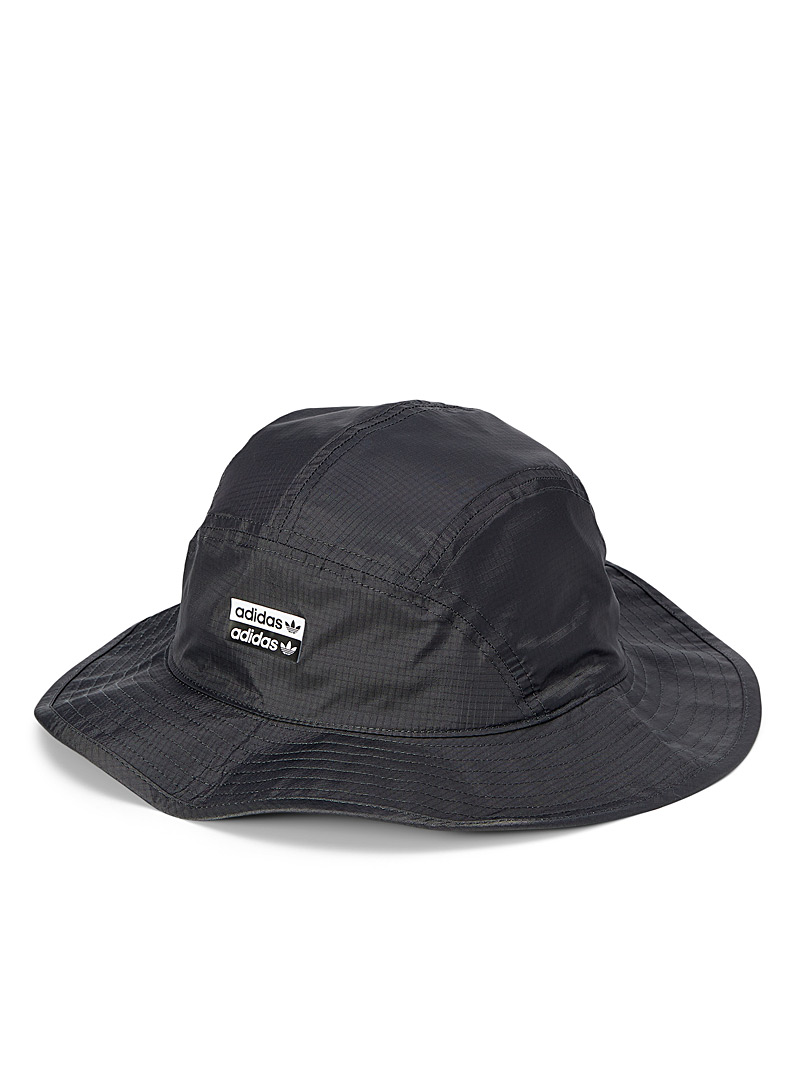 Adidas Originals Black  Ripstop nylon fisherman hat for women
