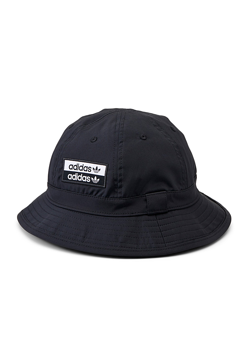 Adidas Originals Black Double-logo bucket hat for women