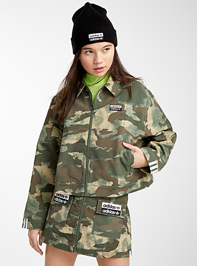 Signature camo cropped jacket