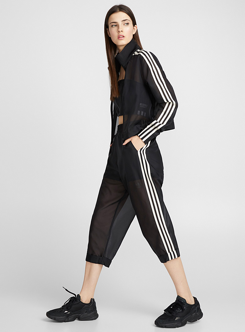 Striped see-through joggers - Joggers - Black