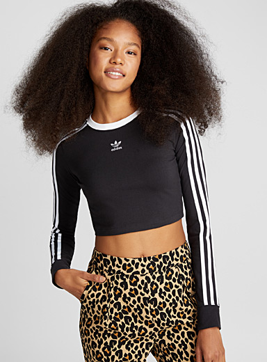 4d32d6fc823ac0 Iconic 3-stripe cropped tee