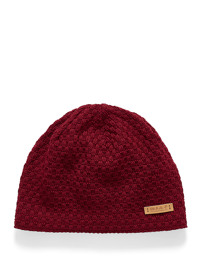 Roma fine check knit tuque