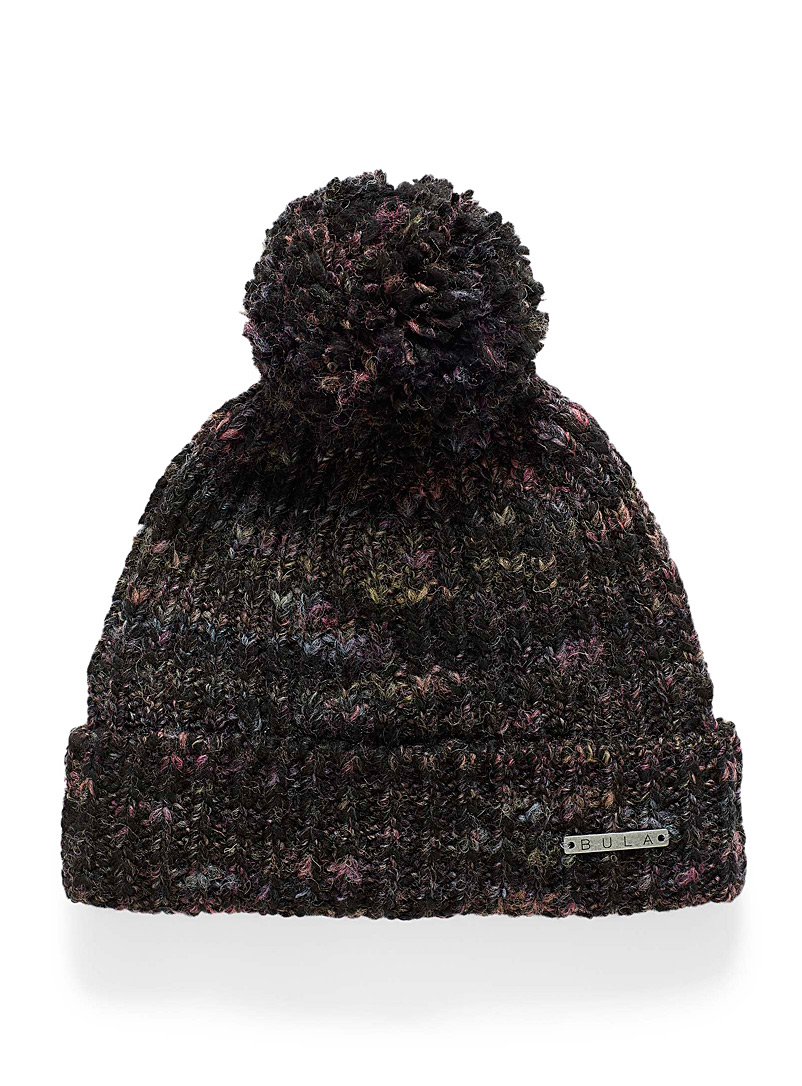 Bula Black Janelle heathered wool tuque for women