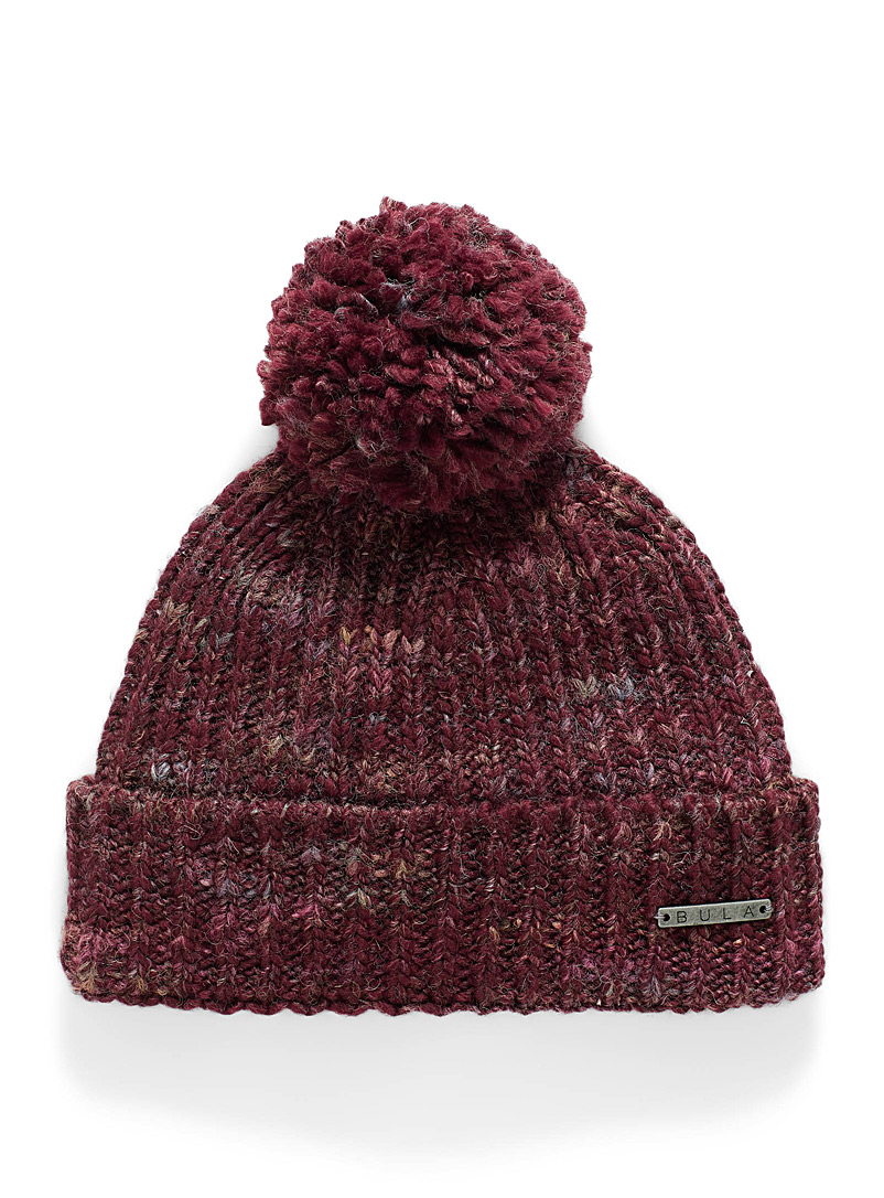 Bula Ruby Red Janelle heathered wool tuque for women