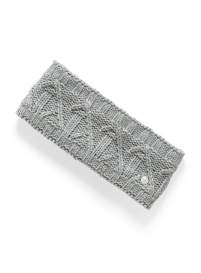 Bula Charcoal Lina cable knit headband for women