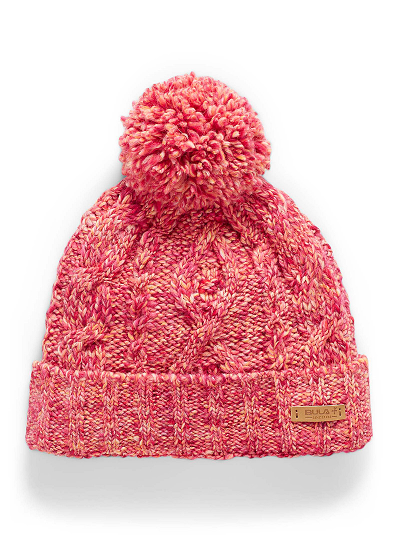 Bula Pink Pop knit pompom tuque for women