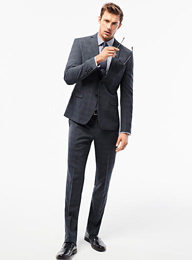 Faded Prince of Wales suit  Semi-slim fit
