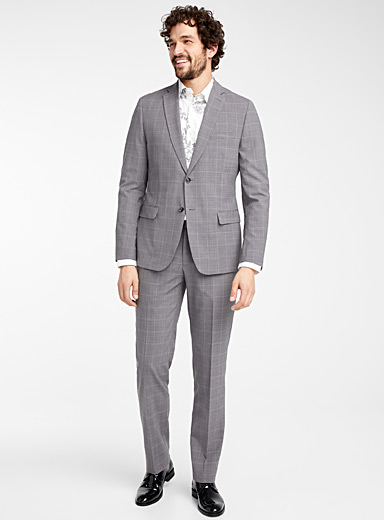 Traced check suit  Semi-slim fit
