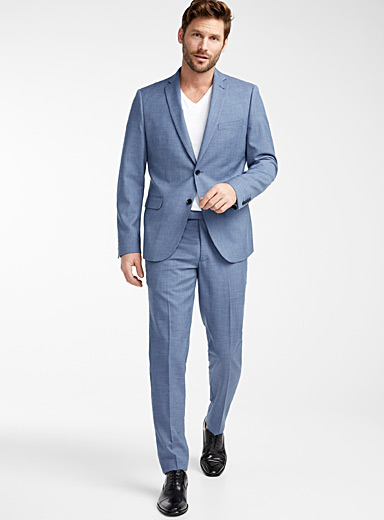 Bosco Blue Chambray weft suit  Semi-slim fit for men