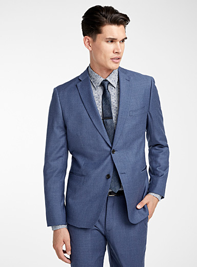 Chambray flannel suit  Semi-slim fit