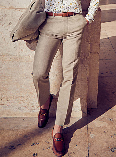 Natural cotton and linen pant  Straight fit