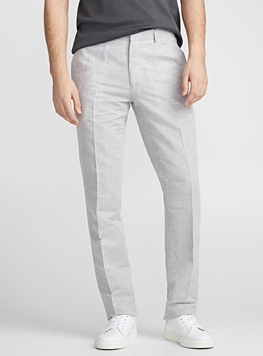 Natural cotton and linen pant <br>Straight fit